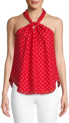 Joie Printed Silk Halter Top