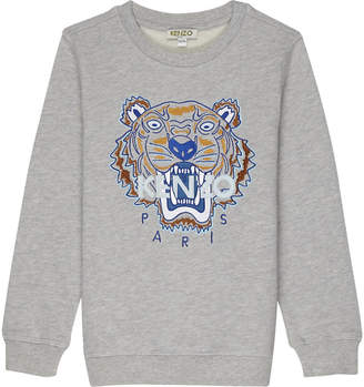 Kenzo Embroidered tiger logo cotton jumper 4-16 years $84 thestylecure.com