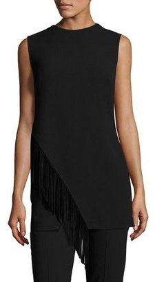 Ralph Lauren Collection Wool Tunic with Suede Fringe, Black $1,590 thestylecure.com