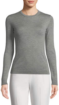 Ralph Lauren Crewneck Long-Sleeve Cashmere Jersey Top