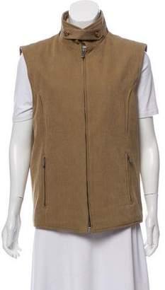 Loro Piana Woven Zip-Up Vest