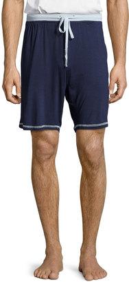 Robert Graham Contrast-Trim Drawstring Shorts, Navy $35 thestylecure.com