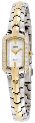 Seiko Tressia Mother of Pearl Dial Stainless Steel Ladies Watch SUP358
