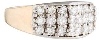 Ring 14K Two-Tone Pavé Diamond Band
