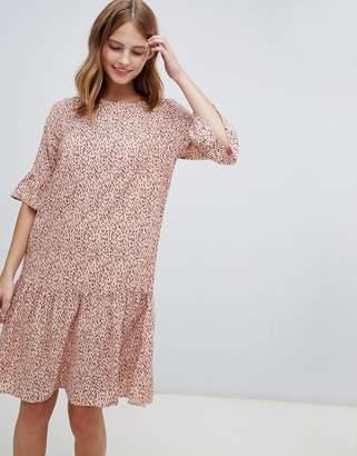 Ichi Printed Drop Waist Dress