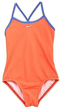 Nike 7-16 One-Piece X-Back Swimsuit
