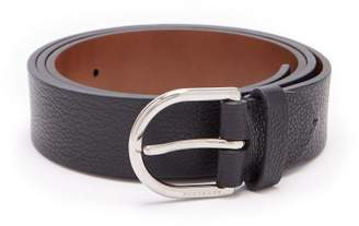Burberry Grained Leather D Buckle Belt - Mens - Black