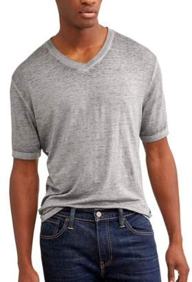George Men's and Men's Big Short Sleeve Duodyed Burnout Washed Tee, Up To Size 3Xl