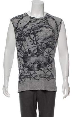 Balmain Printed Scoop Neck Tank