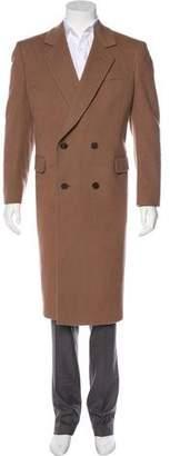 Saint Laurent Vintage Double-Breasted Virgin Wool Overcoat