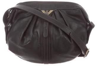 Emporio Armani Mini Leather Crossbody Bag Black Mini Leather Crossbody Bag