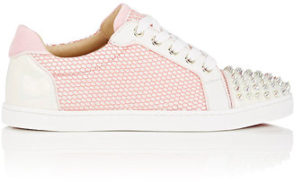 Christian Louboutin Women's Gondolita Flat Mesh & Leather Sneakers $945 thestylecure.com
