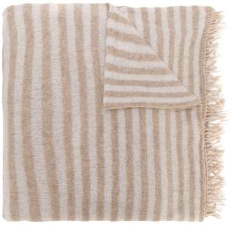 Danielapi striped fringe scarf