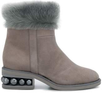 Nicholas Kirkwood Casati pearl slip on boots