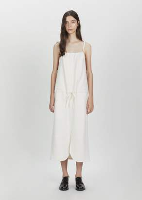 Phoebe English Curved Slit Dress Ivory