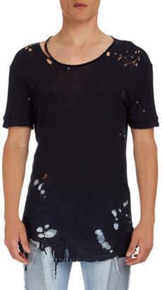 Balmain Destroyed Jersey T-Shirt