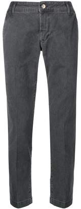Entre Amis creased tapered trousers