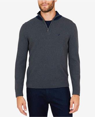 Nautica Men's Milano Quarter-Zip Sweater