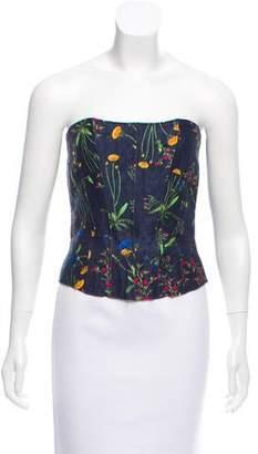 Marissa Webb Strapless Floral Top