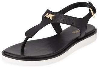 MICHAEL Michael Kors Brady Flat Leather Thong Sandals