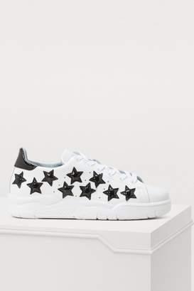 Chiara Ferragni Leather stars sneakers