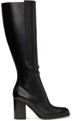 Loewe Black Square Zip Tall Boots