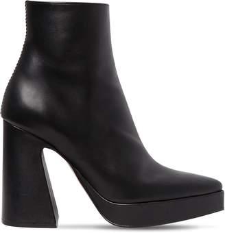 Proenza Schouler 105mm Leather Platform Ankle Boots
