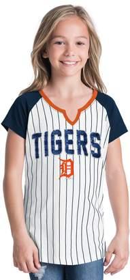 Girls 6-16 Detroit Tigers Pin Stripe Jersey Tee