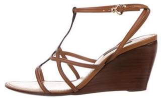 Louis Vuitton Leather Wedge Sandals