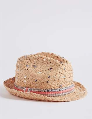 Marks and Spencer Kids' Sequin Summer Hat (3 - 14 Years)
