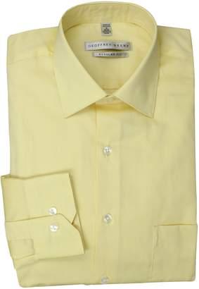 Geoffrey Beene Men's Pale Yellow Solid Dress Shirt