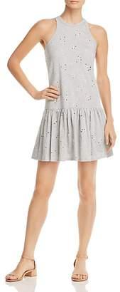 Rebecca Taylor Drop-Waist Eyelet Jersey Dress