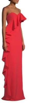 Sachin + Babi Asymmetric Ruffle Gown