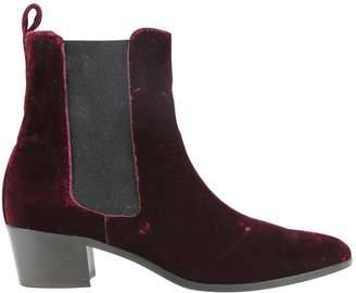 Modern Vice Burgundy Velvet Ankle boots