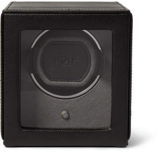 Wolf Cub Pebble-Grain Faux Leather Watch Winder - Men - Black