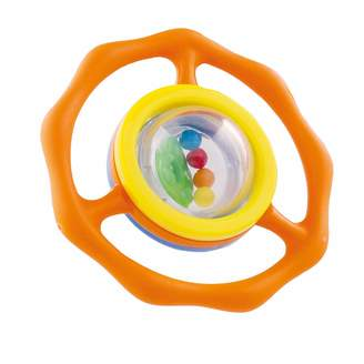 Bieco 27000025 Greif - and Teething Ring with Integrated Ball Rattle Aktivity Toys for Babies and Toddlers