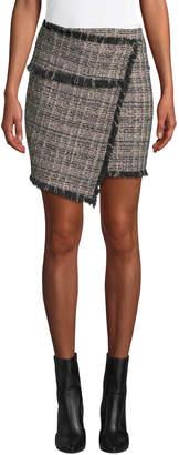 IRO Passionate Tweed Fringe Short Skirt