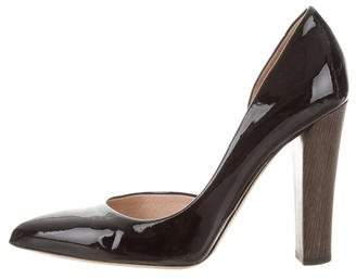 Reed Krakoff Patent Leather Semi d'Orsay Pumps
