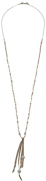 Chan LuuChan Luu Smokey Quartz Necklace with Horn Pendant