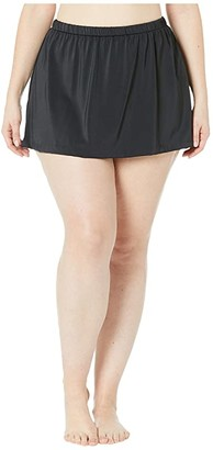 Maxine Of Hollywood Swimwear Plus Size Solids Separate Skirted Pant Bottoms