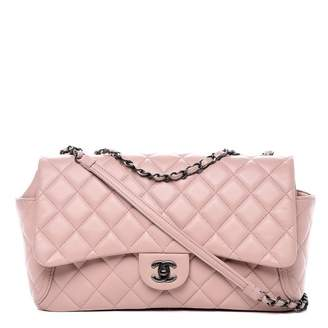 Chanel Around Pocket Flap Quilted Diamond Large Light Pink