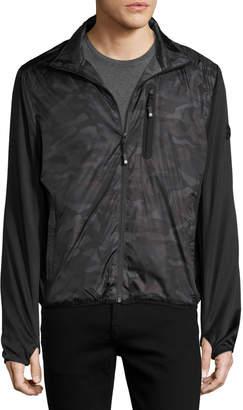 MICHAEL Michael Kors Camo-Print Nylon Active Jacket, Green Pattern