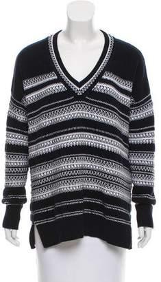 Vince Patterned Knit Sweater