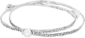 Hagit Sterling Cultured Pearl Interlocking Bangles