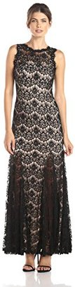 Betsy & Adam Women's Sleeveless Lace Gown $259 thestylecure.com