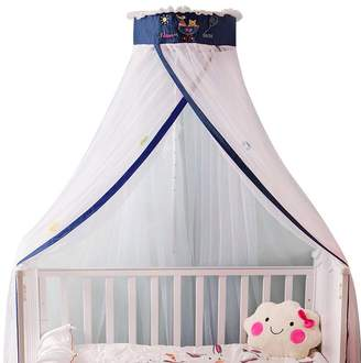 Pinji AdjCAtable Mosquito Net Canopy Dome Princess Bed Tent Crib Netting Curtain Bed Guard for Kids Children Reading Playing Indoor Game HoCAe