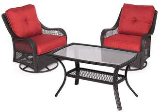 Hanover Orleans 3-Piece Patio Chat Set in Autumn Berry