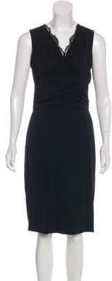 Dolce & Gabbana Silk Lace-Trimmed Dress