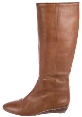 Loeffler Randall Leather Wedge Knee-High Boots