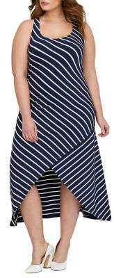 Addition Elle Michel Studio Plus Yarn-Dyed Stripe Maxi Dress